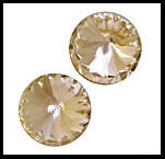 Swarovski Elements Rivoli - 16mm Golden Shadow