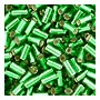 size 1 Bugle Bead - Green S/L