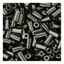 size 1 Bugle Bead - Black Opaque