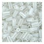 size 1 Bugle Bead - White Opaque Luster