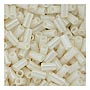 size 1 Bugle Bead - Alabaster Opaque Luster