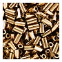 size 1 Bugle Bead - Gold Bronze Metallic