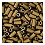 size 1 Bugle Bead - Khaki Brown Matte Metallic