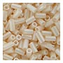 size 1 Bugle Bead - Rich Cream Opaque Luster