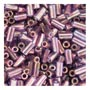 size 1 Bugle Bead - Violet Gold Luster