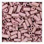 size 1 Bugle Bead - Antique Rose Matte Gold Luster