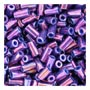 size 1 Bugle Bead - Midnight Purple Metallic Luster