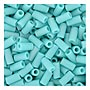 size 1 Bugle Bead - Turquoise Matte Opaque AB