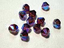 SWAROVSKI ELEMENTS Bicone - 4mm Amethyst AB 2X