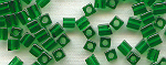 4mm Cube - Green Transparent