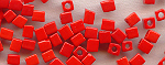 4mm Cube - Bright Red Opaque