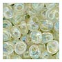 4mm Magatama - Crystal Cream Lined AB