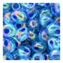 4mm Magatama - Blue / Purple Lined AB