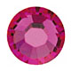 Swarovski Crystal Flat Back Hot Fix - 3mm Fuchsia