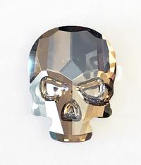#2856 Skull flat back - 18mm - Crystal Golden Shadow