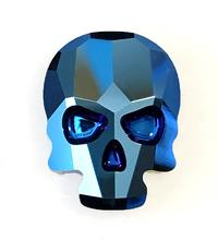 #2856 Skull flat back - 18mm - Metallic Blue