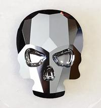 #2856 Skull flat back - 18mm - Light Chrome
