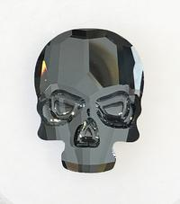 #2856 Skull flat back - 18mm - Crystal Silver Night