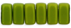 Two Hole Bricks - 3x6mm - Olive Opaque