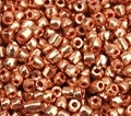 12/0 Czech Three-Cuts - Rose Gold Terra Metallic