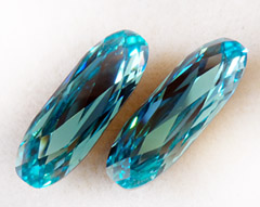 Swarovski Crystal #4161 - 27x9mm Oblong - Light Turquoise