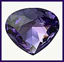 SWAROVSKI ELEMENTS Triangle Stone - 20mm Tanzanite