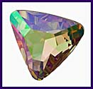 SWAROVSKI ELEMENTS Triangle Stone - 23mm Purple Haze