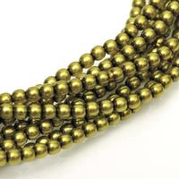 2mm Czech Glass Pearls - Olive Pearl