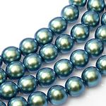 2mm Czech Glass Pearls - Blue Scarab Pearl