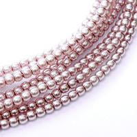 2mm Czech Glass Pearls - Almond Blush Pearl