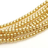 2mm Czech Glass Pearls - Light Gold Pearl