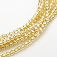 2mm Czech Glass Pearls - Ivory Pearl
