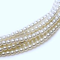 2mm Czech Glass Pearls - White Satin Pearl