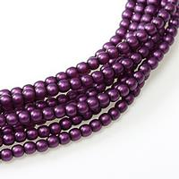 2mm Czech Glass Pearls - Grape Satin Matte Pearl