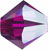 SWAROVSKI ELEMENTS Bicone - 3mm Fuchsia AB