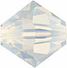Swarovski Elements Bicone - 6mm White Opal
