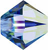 Swarovski Elements Bicone - 6mm Light Sapphire AB 2X