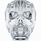 Swarovski Skull Bead - 19mm Crystal