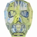 Swarovski Skull Bead - 13mm Crystal Luminous Green