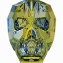 Swarovski Skull Bead - 13mm Crystal Iridescent Green