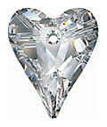 SWAROVSKI ELEMENTS Wild Heart Pendant - 12mm Crystal AB