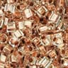 Toho 1.5mm Cube - Crystal Copper Lined