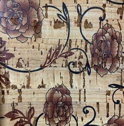 Cork Fabric - Sepia Rose