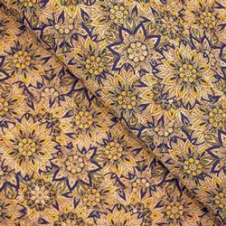 Cork Fabric - Portuguese Flowers