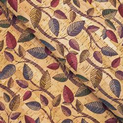 Cork Fabric - Whimsy Leaves