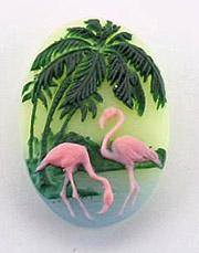 40/30mm Flamingo Cameo