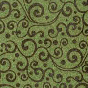 Patterned Ultrasuede - Vines - Fern