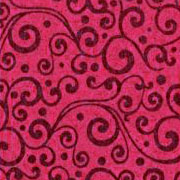 Patterned Ultrasuede - Vines - Fuchsia