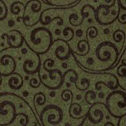 Patterned Ultrasuede - Vines - Ivy