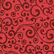 Patterned Ultrasuede - Vines - Scoundrel Red